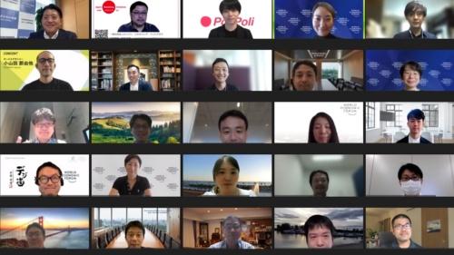 平井卓也デジタル改革相と意見交換した約30人の勉強会メンバー