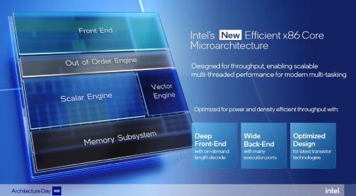 「Efficient-core」(以前の開発コード名:Grace Mont)の概要