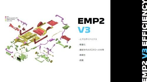 改良版のプラットフォーム「EMP2 V3」