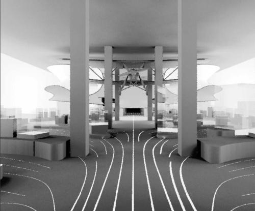 展示照明に加え、ギャラリー周囲の壁面を照らしたときの光環境の検討なども行った(写真:© Arup)