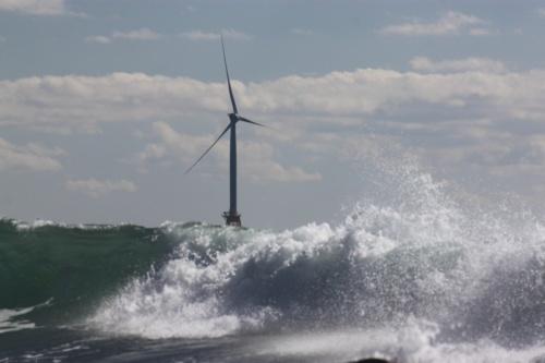 風が強く吹くことで、波も高いが多くの発電が可能(写真:©Arup)