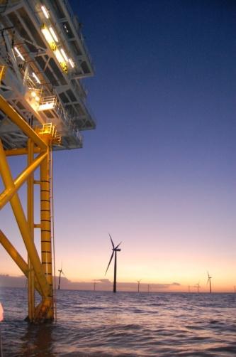 スコットランド、アバディーンの洋上風力発電ファーム(写真:©Arup)