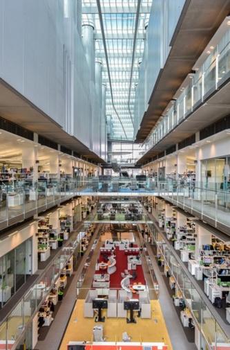 フランシス・クリック研究所の内部。意匠設計は、HOK、PLP Architecture、BMJ Architectsの3社協働(写真:© Daniel Imade)
