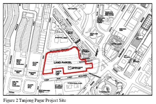 グオコタワーは地下鉄の上に立ち、駅に直結している。周辺は、幅の狭い道路や、歴史的建造物であるショップハウス、基礎が浅い建物などに囲まれており、施工は慎重さが求められた(資料:Arup)