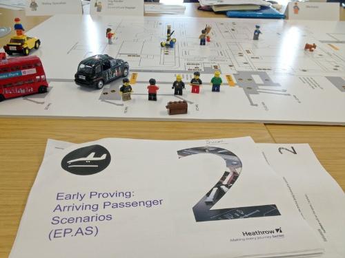 ヒースロー空港で、アラップが提供したトレーニングシステムの一部。レゴを用いたワークショップをクライアントに提案するのは勇気の要ることだろう (写真:Arup)