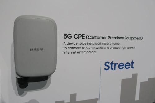 5G機器の実物を展示していたサムスン電子