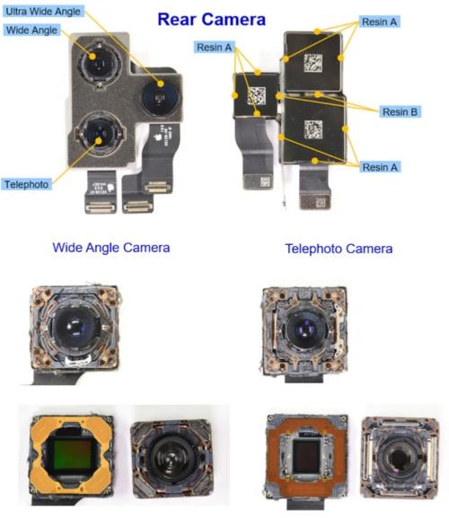 背面の3眼カメラは前例のない三角配列