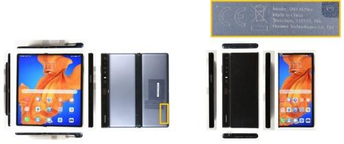 「HUAWEI Mate Xs」の製品外観。カメラは裏面配置し、ディスプレーを筐体(きょうたい)全面に設置している。(図:フォーマルハウト・テクノ・ソリューションズ)