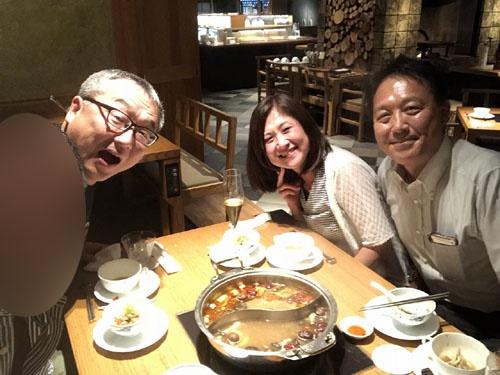 左から私、本職の自動車評論家渡辺敏史氏、トヨタ広報鳥飼和美氏、同じく西川秀之氏。