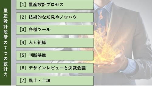 量産設計段階における7つの設計力