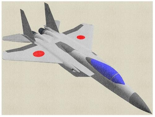 図1●ジェット戦闘機のF-15(イラスト作成:國井技術士設計事務所)