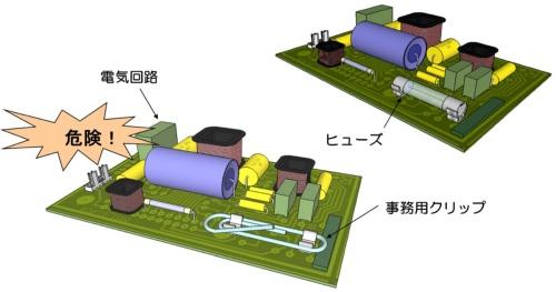 図1●電気回路のヒューズに関する匠のワザ[5]の悪しき例