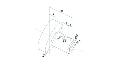 図1 部品の図面
