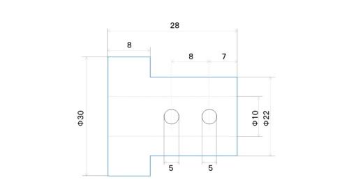 図2 上からの投影図を正面図に記載した設計者の図面