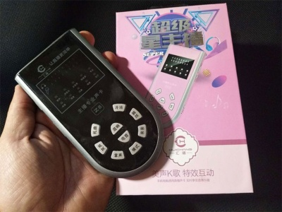 「匯唱」の本体は5型のスマートフォンくらいの大きさ。価格は235元(約4000円)だった