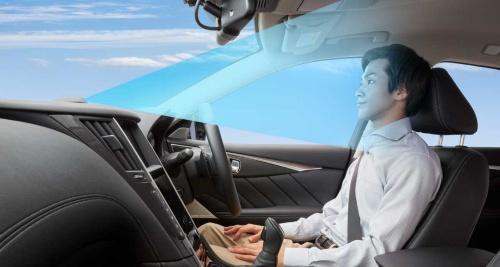 新開発の運転支援システム「プロパイロット2.0」のイメージ写真。国内メーカーでは初めて「手放し運転」を可能にした(写真:日産自動車)