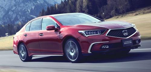 ホンダが「レベル3」の自動運転機能を搭載すると予想される「レジェンド」。Honda Meeting 2017で実験車両のベースとなっていたのもこの車種だった。(写真提供:ホンダ)