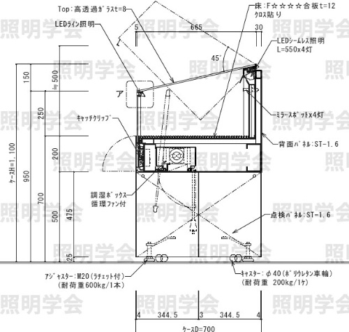 図12 独立ケース(短刀・刀装・刀装具)図面