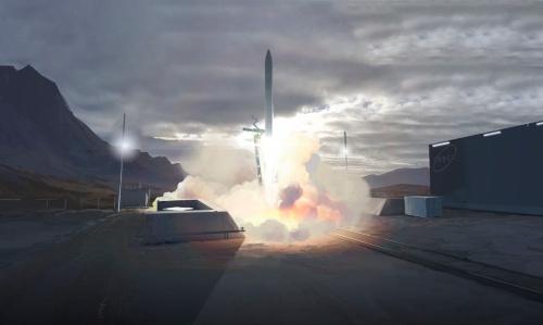 Orbexの小型ロケットの打ち上げイメージ