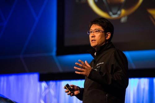 レクサスの技術を統括するエグゼクティブバイスプレジデントの佐藤恒治氏