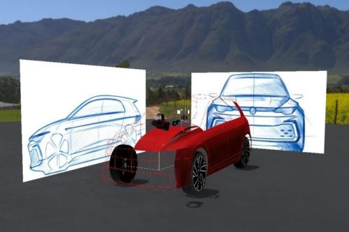 デザイナーによる2Dのアイデアから3Dモデラーが3Dを作成する