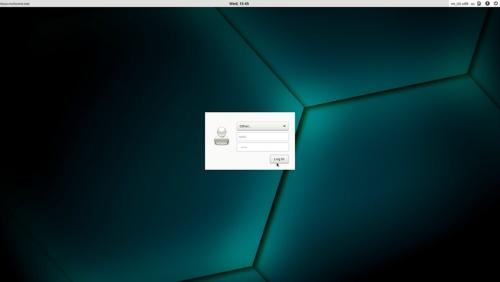 openSUSEのログイン画面
