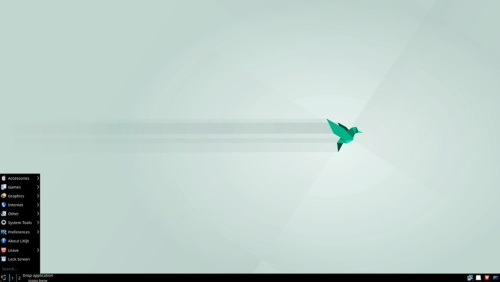 openSUSE(LXQt)のデスクトップ画面