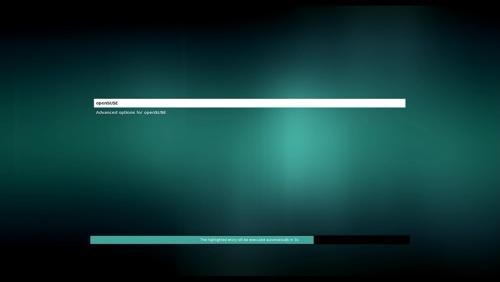 openSUSEの起動メニュー