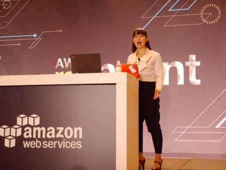 2014年開催の「re:Invent」でのスピーチの様子