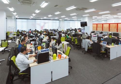 約250人の社員が働いている。