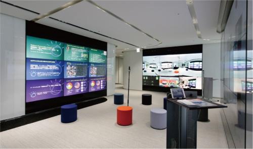 このスペースでは、Watsonを使って性別や年齢、動線などを分析するデモが体験できる。