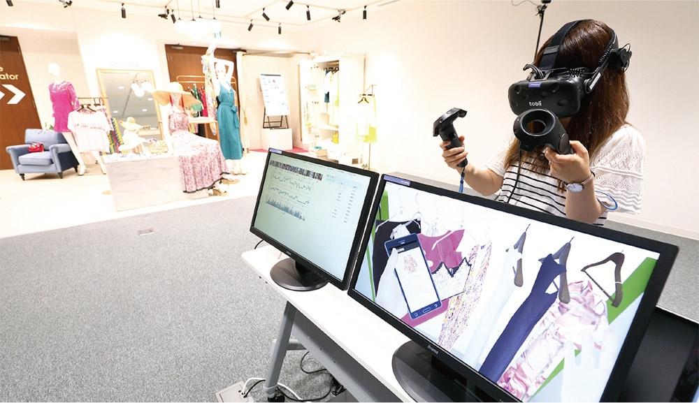 「Consumer GYM」ではVRを使ってユーザーの行動データを分析できる。現在は洋品店。