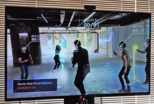ナイアンティックはARコンテンツ開発を助ける「Niantic Real World Platform」の開発を進めているが、Tokyo Studioではあくまでゲームを開発していくとのこと。写真は2018年8月2日の「Niantic: Tokyo Studio プレスラウンドデーブル」より(筆者撮影)