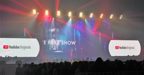 YouTube Premiumでの配信が発表された「The Fake Show」など2作品は、2017年12月17日に実施された「YouTube FanFest」で発表されたものだ。写真は同イベントより(筆者撮影)