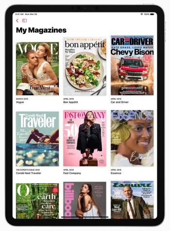 「Apple News+」は様々なジャンルの新聞や雑誌などが月額10ドルで読み放題となるサービス。日本での提供は未定だ。