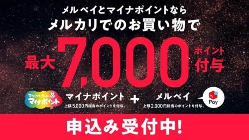 メルペイはキャンペーンの追加によりポイント還元を2000円に増額。マイナポイント事業での登録拡大に向け、当初最大1000円としていたポイント還元を増やした
