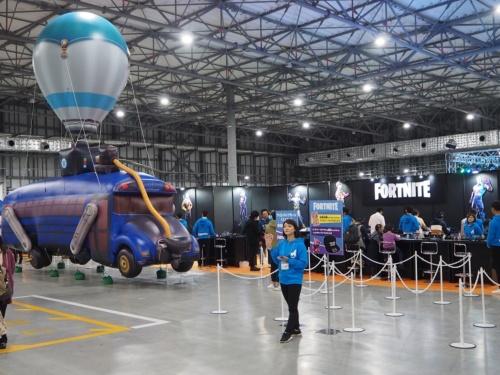 エピックゲームズは国内でも人気の「フォートナイト」などを提供している企業で、ソニーが出資すると発表したことが大きな注目を集めている。写真は2019年11月9日の「Mobile Game Exprience」より(筆者撮影)