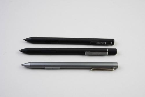 一番奥が2018年に登場した初代のBamboo Ink。手前の2本が新モデルだ