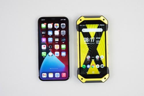 iPhone 12 Pro Max(左)と比べるとさほど大きくは感じない