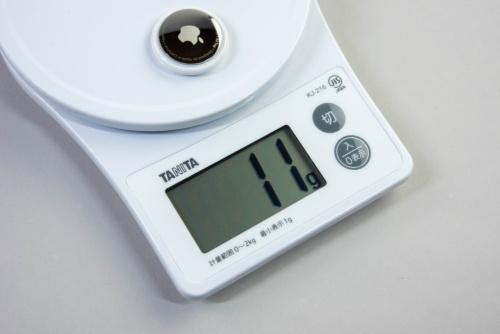 重量をキッチンスケールで測定しても11gだった