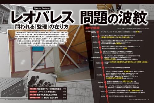 (背景の写真:小屋裏とアパート外観は那須弘樹、看板は内藤千照、図面はレオパレス21、会見は日経アーキテクチュア)
