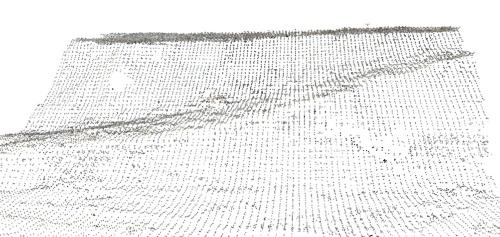 スマホde サーベイによる測量で取得した点群データ(出所:大林組)