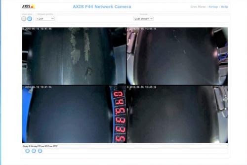 内部カメラによる調査モニター画面(写真:西松建設)