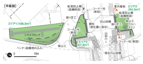 平面図。鹿児島県、羽野暁九州大学特任助教、建設技術コンサルタンツの資料を基に本誌が作成