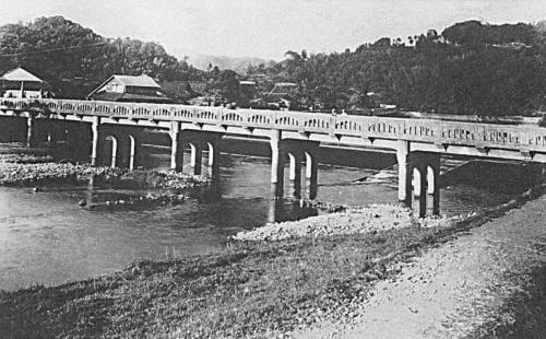 1953年当時の旧山田橋(写真:姶良市)