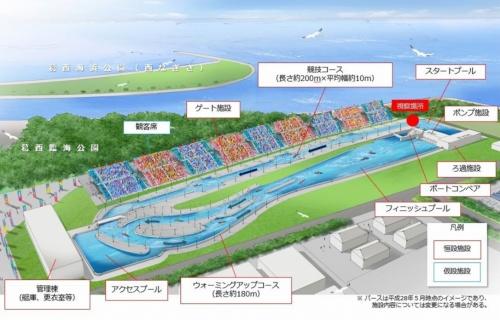 カヌー・スラロームセンターの施設配置図(資料:東京都)