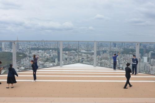 北東側の角からは、新国立競技場なども見える(写真:日経アーキテクチュア)