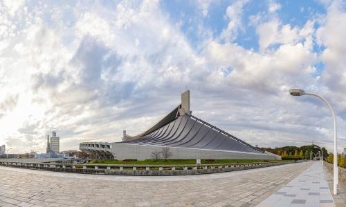 耐震改修後の代々木競技場第一体育館の外観(写真:大山 顕)