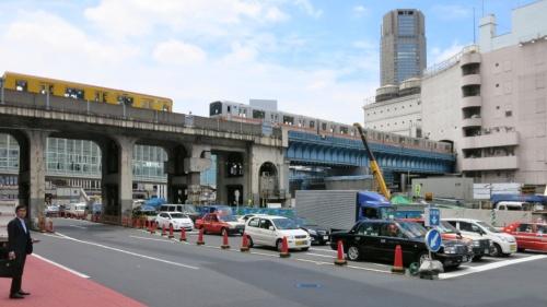 2013年の様子。写真右手にある百貨店の建物は現在、既に解体されている。渋谷スクランブルスクエアの姿はまだない(写真:日経 xTECH)