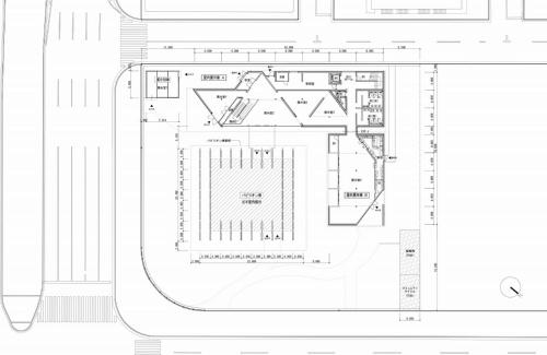 CLT パーク ハルミの1階平面図(資料:三菱地所設計)